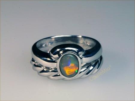 Dark opal silver Ring