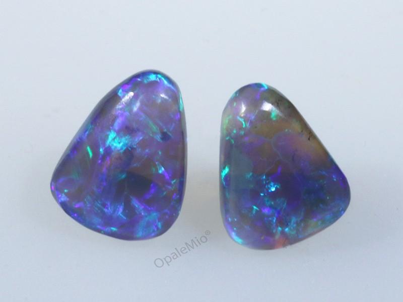 Crystal black opals