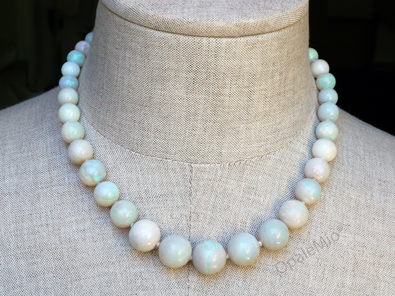 White opal beads Necklace