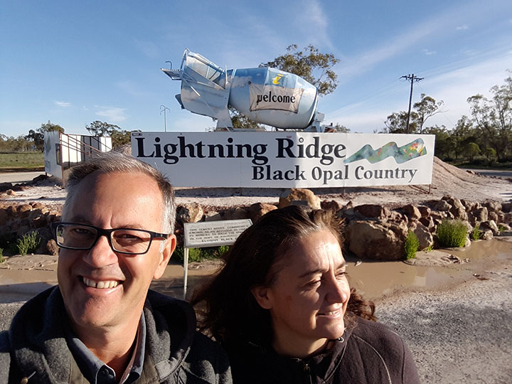 A Lightning Ridge NSW dove si trovano le miniere di opale più pregiato al mondo